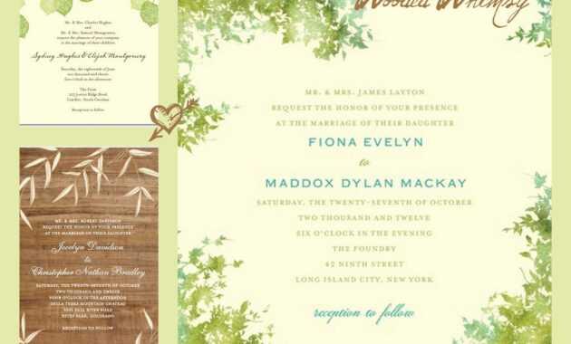 Anniversary Invitation : Wedding Invitations Cards Wording with Sample Wedding Invitation Cards Templates