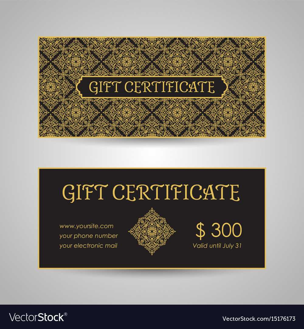 Arabic Style Gift Certificate Template With Regard To Gift Card Template Illustrator