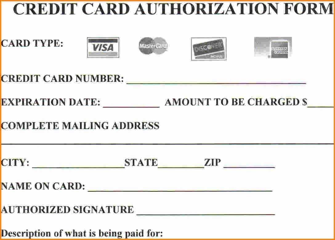 Are You At Risknot Using Credit Card Authorization Forms Inside Credit Card Billing Authorization Form Template