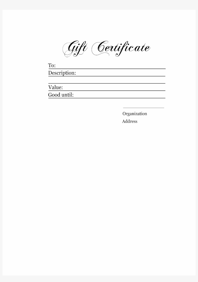 Authentic Gift Certificate Main Image Download Template In Homemade Gift Certificate Template