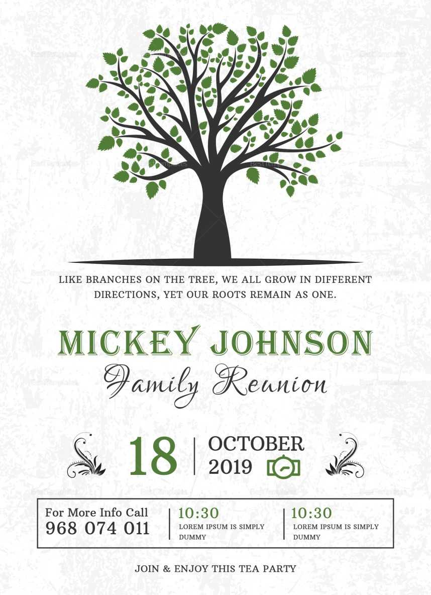 Awesome Family Reunion Invitation Templates Template Ideas With Regard To Reunion Invitation Card Templates