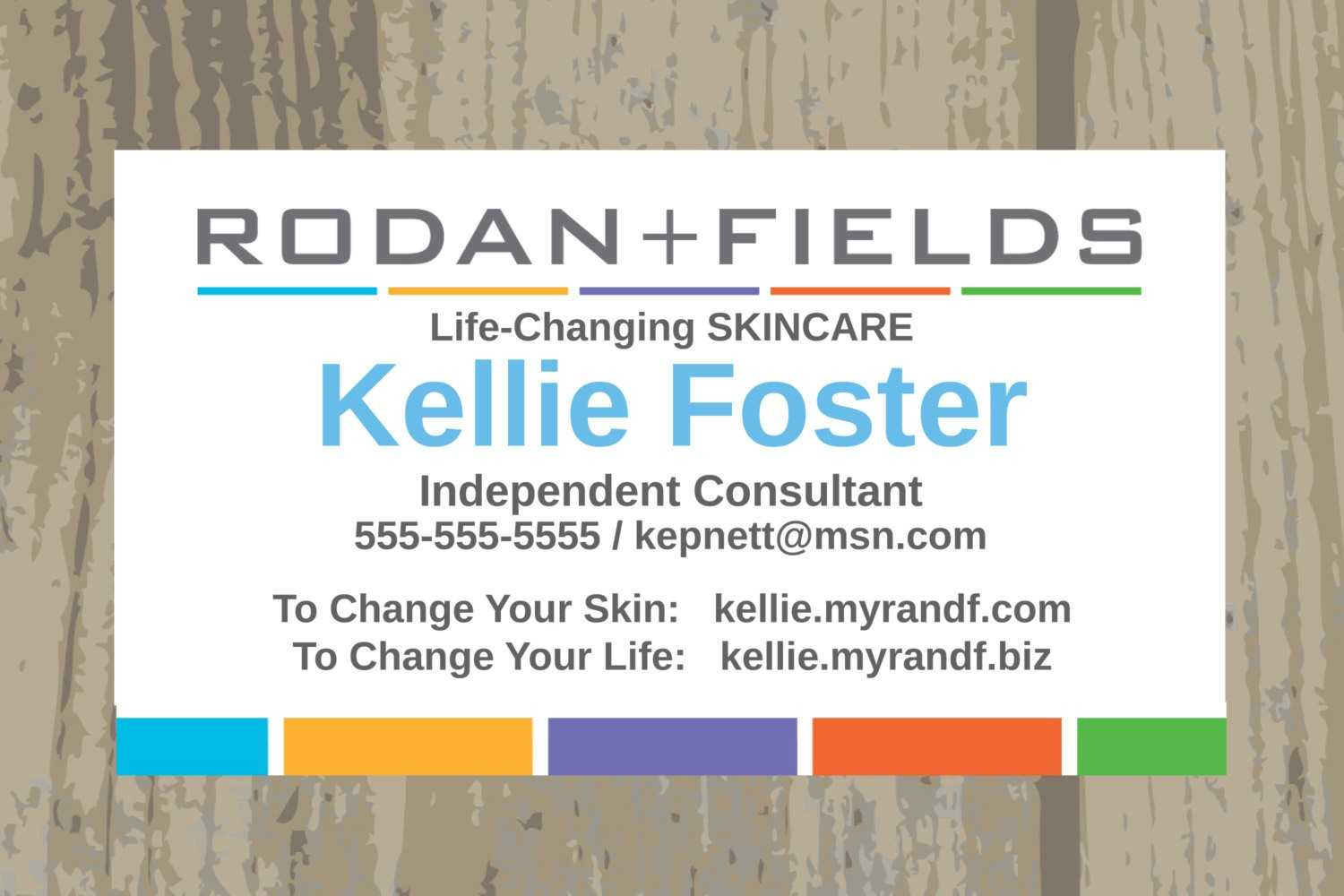 Awesome Rodan And Fields Business Cards Vistaprint With Rodan And Fields Business Card Template