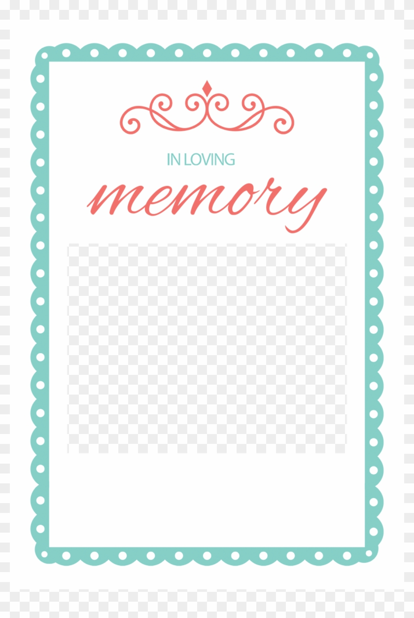 Awful In Loving Memory Templates Template Ideas Word Picture For In Memory Cards Templates