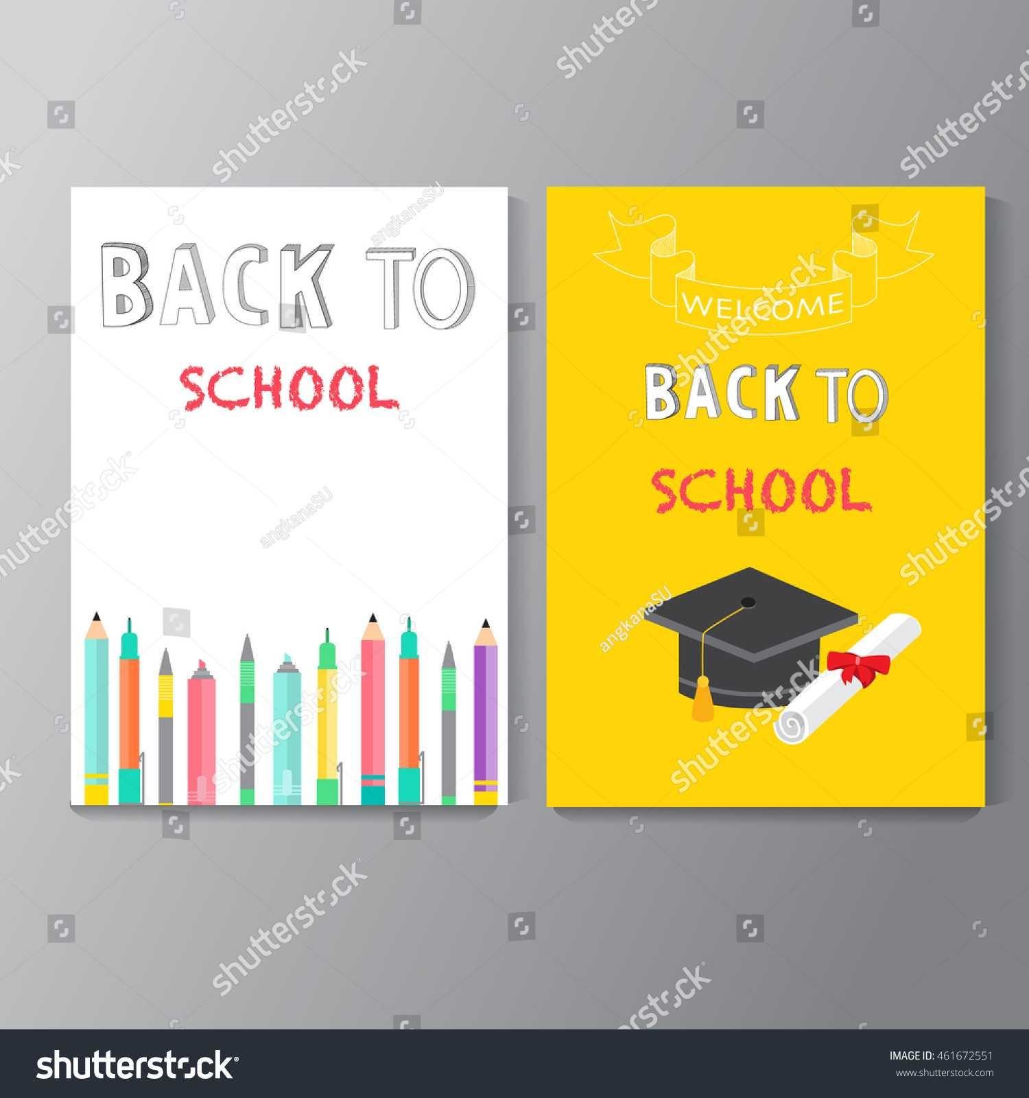 Back School Background Poster Brochure Flyer Stock Vector With Regard To School Brochure Design Templates