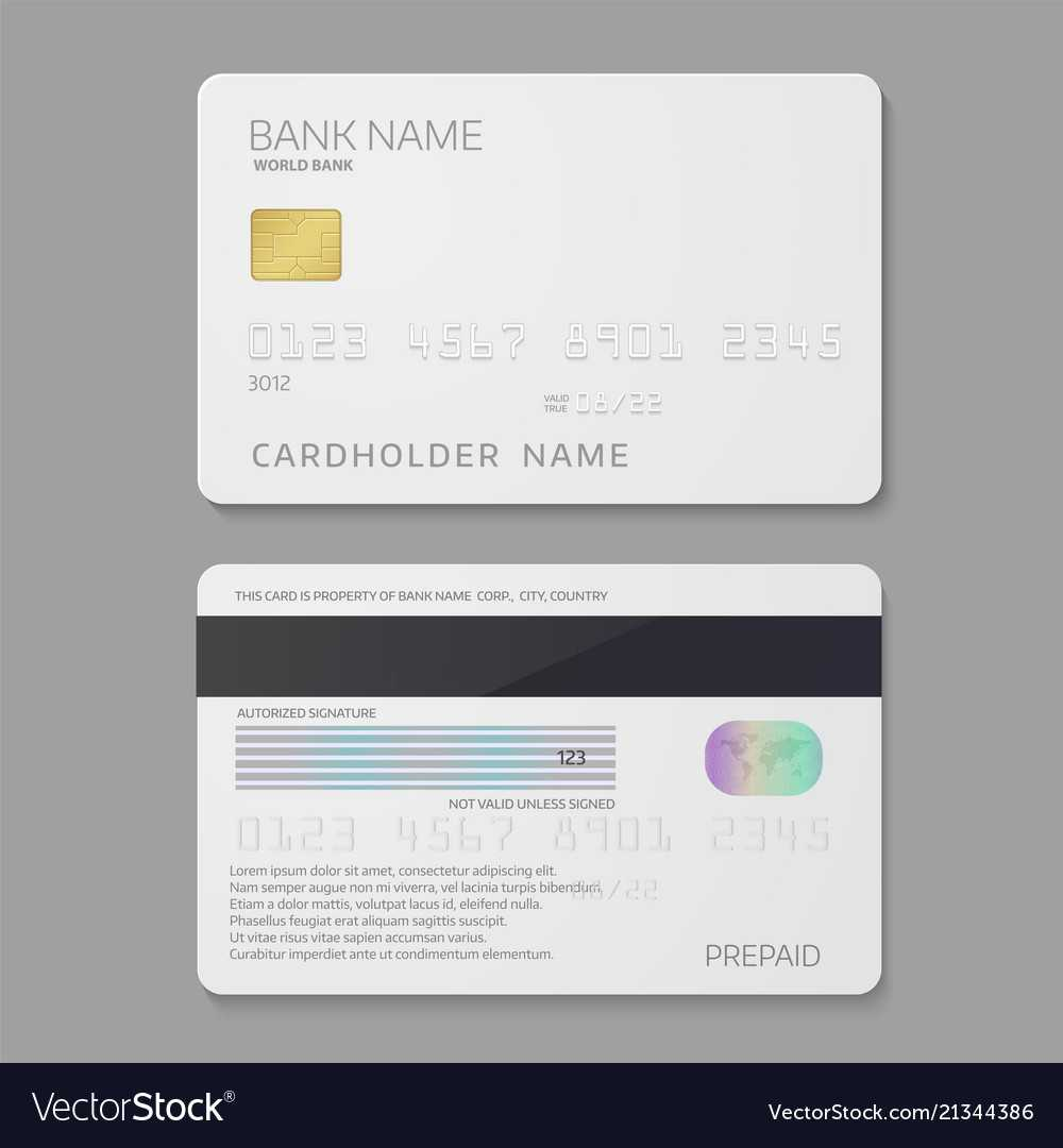 Bank Credit Card Template Pertaining To Credit Card Templates For Sale