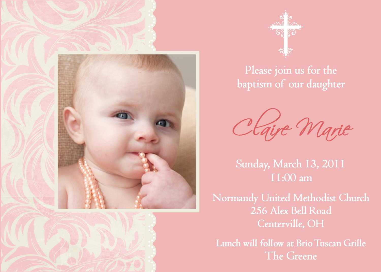 Baptism Invitation Card : Baptism Invitation Card Templates With Regard To Baptism Invitation Card Template