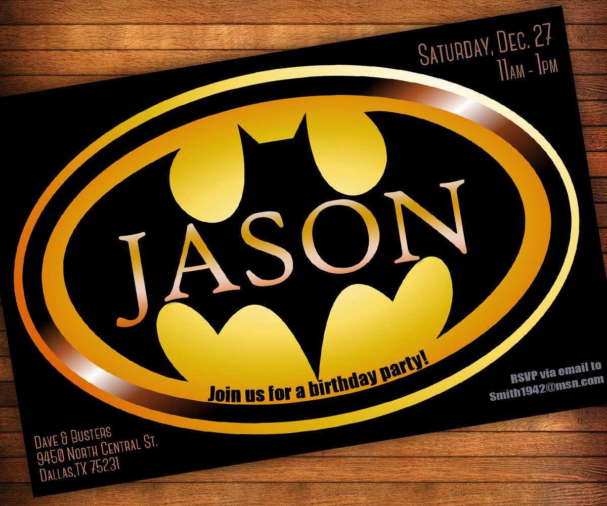 Batman Birthday Invitations Templates Ideas : Batman With Batman Birthday Card Template