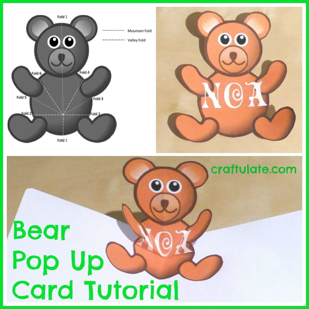 Bear Pop Up Card Tutorial - Craftulate With Teddy Bear Pop Up Card Template Free