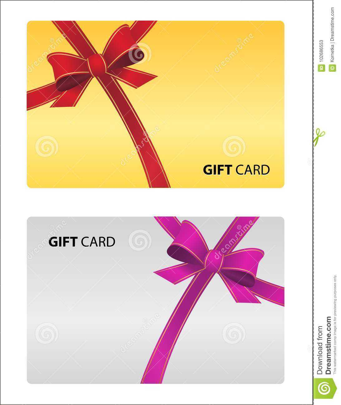 Beautiful Gift Card Isolated. Vector Business Card Golden Within Loyalty Card Design Template