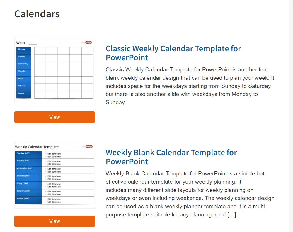 Best Free Powerpoint Calendar Templates On The Internet Pertaining To Microsoft Powerpoint Calendar Template