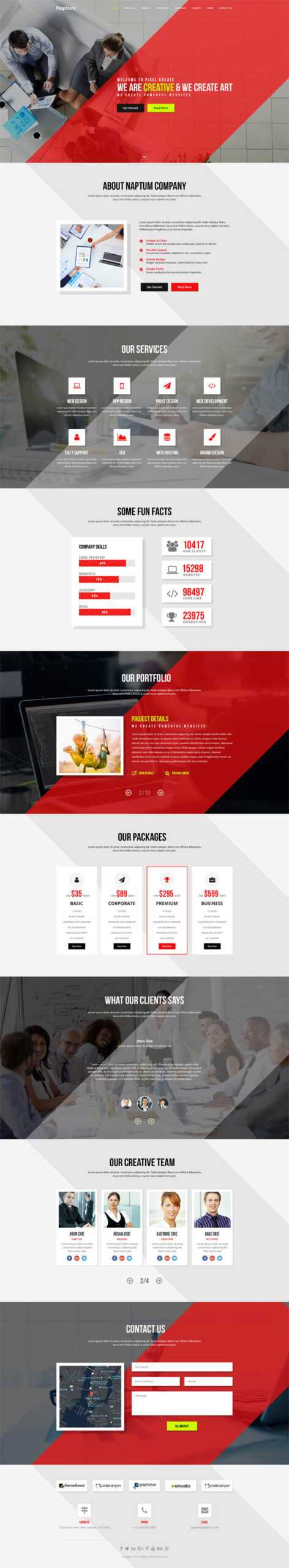 Best Single Page Web Templates | Web Design | Graphic Design Throughout Single Page Brochure Templates Psd