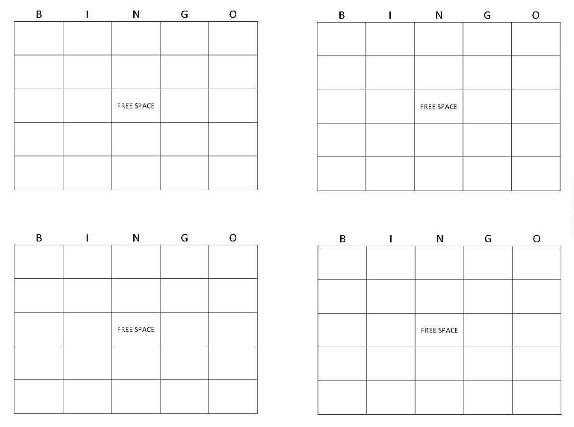 Bingo Card Maker | Make Bingo Cards » Template Haven For Blank Bingo Card Template Microsoft Word