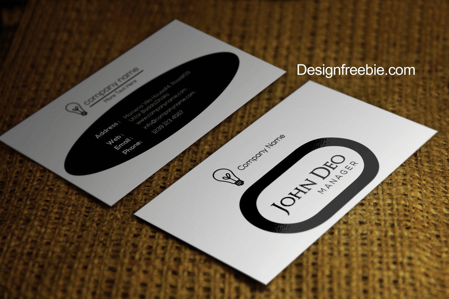Black And White Free Business Card Template Psd With Black And White Business Cards Templates Free