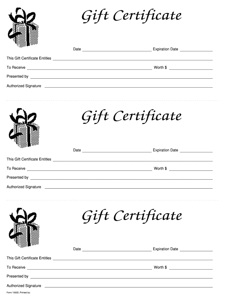 Blank Gift Vouchers Templates Free - Colona.rsd7 With Printable Gift Certificates Templates Free