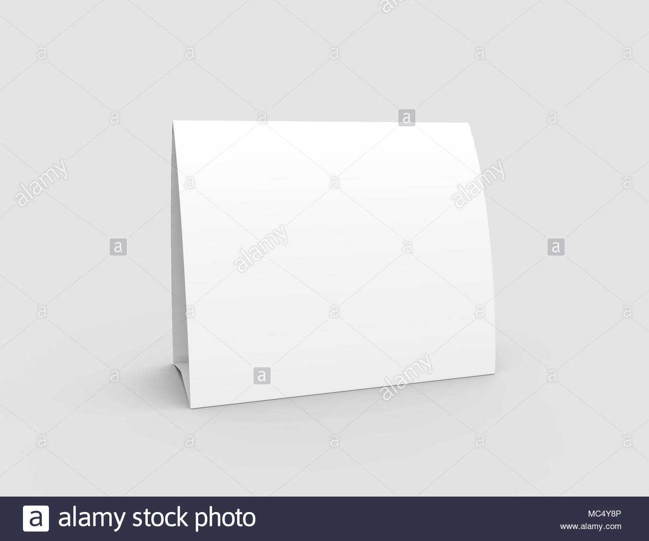 Blank Paper Tent Template, White Tent Card With Empty Space In Blank Tent Card Template