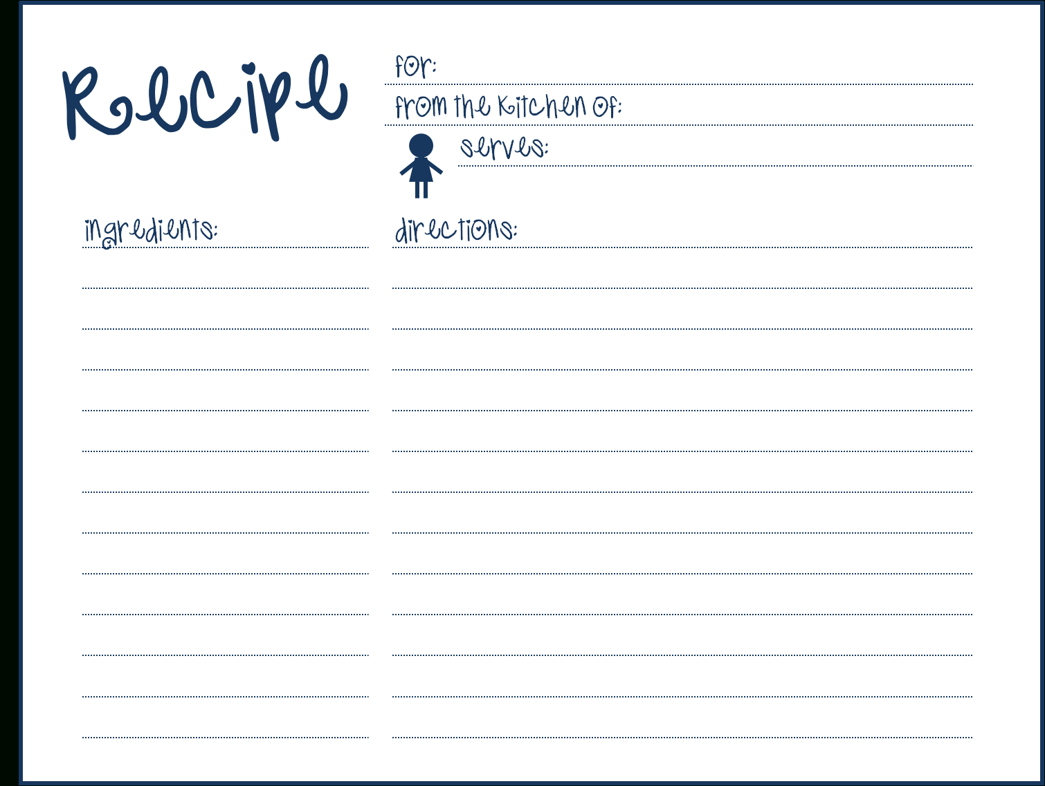 Blank Recipe Card Template For Word ] - Pics Photos Blank With Word Template For 3X5 Index Cards