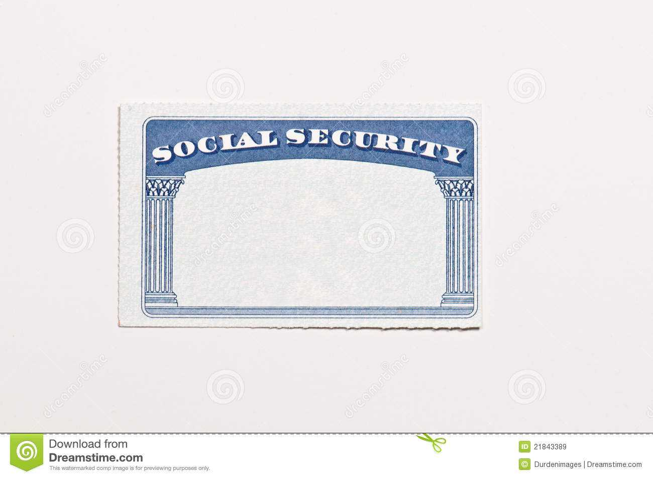 Blank Social Security Card Stock Image. Image Of Document Pertaining To Social Security Card Template Free