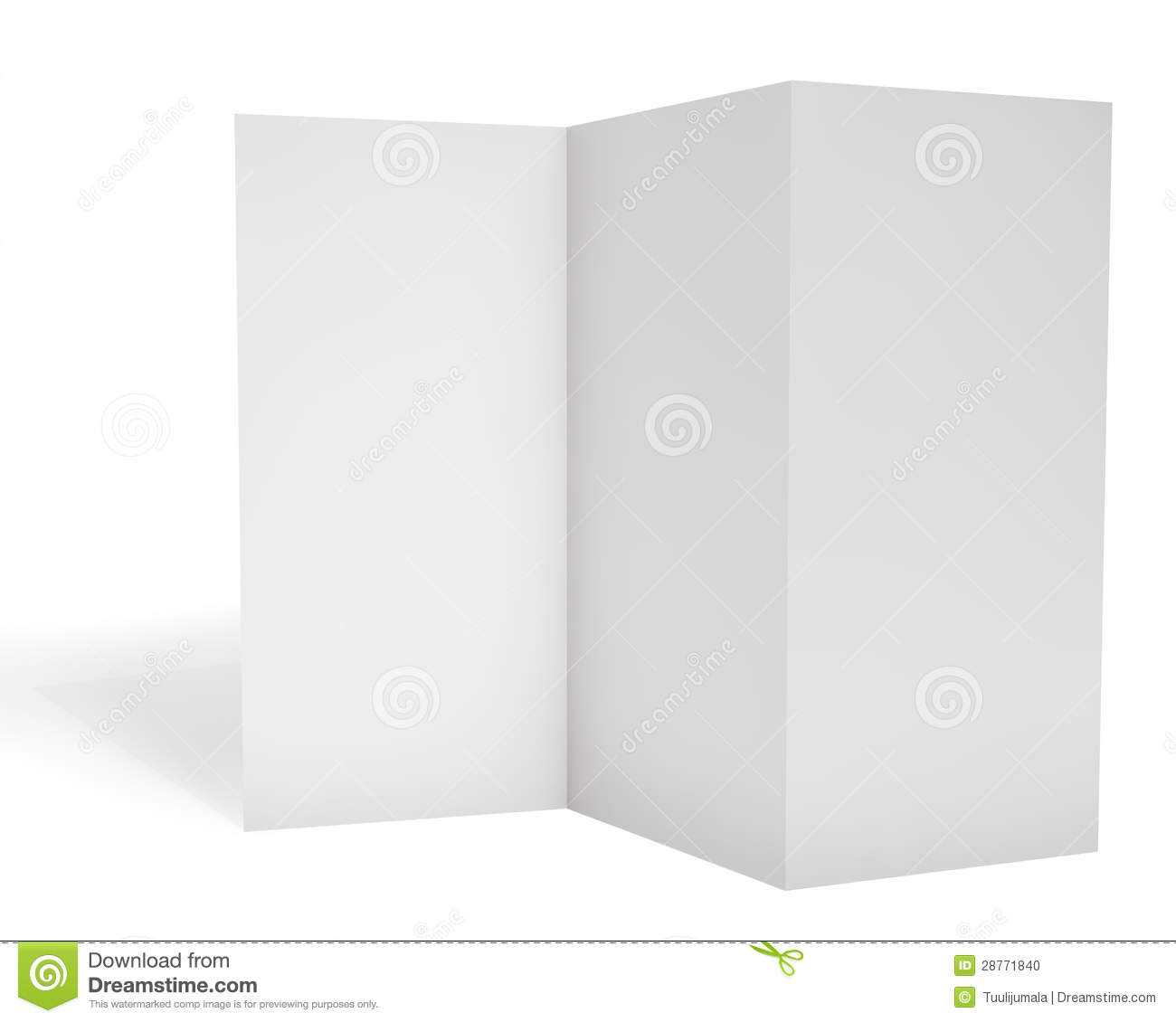 Blank Triple Leaflet Template Stock Illustration With Travel Brochure Template Ks2