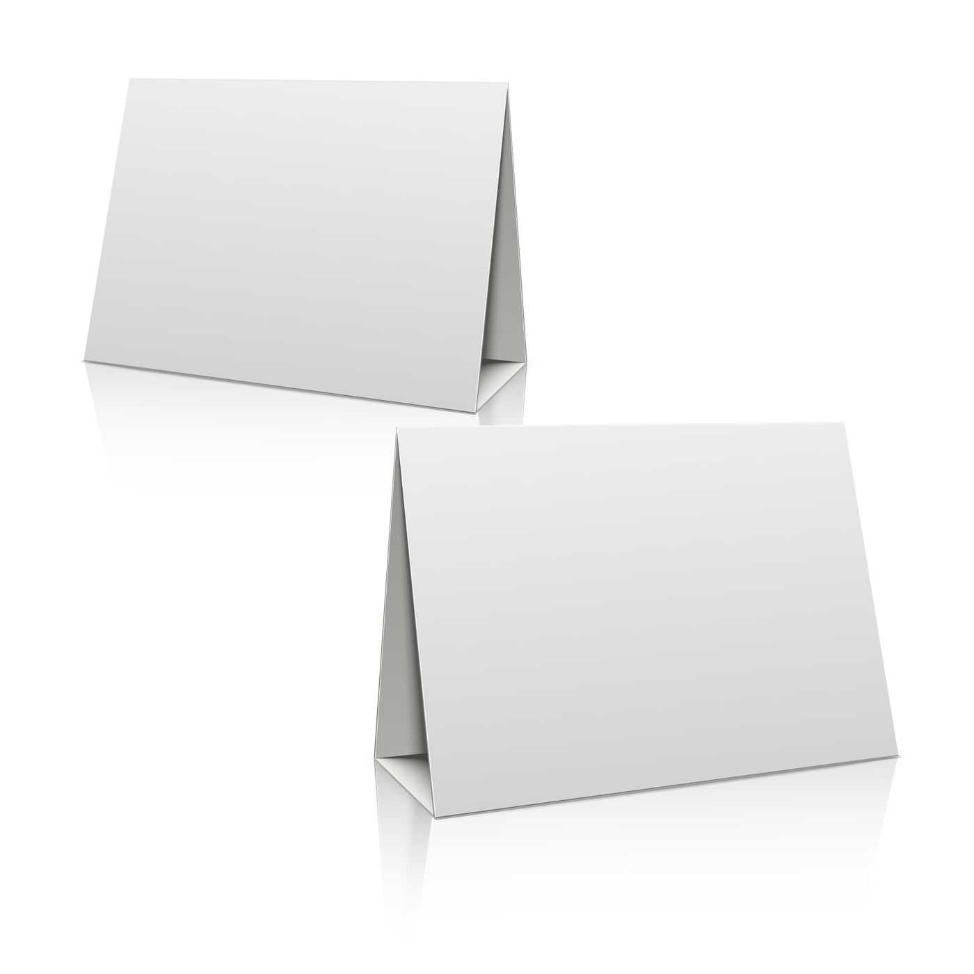 Blank White Paper Stand Table Holder Card. 3D Vector Design Intended For Card Stand Template