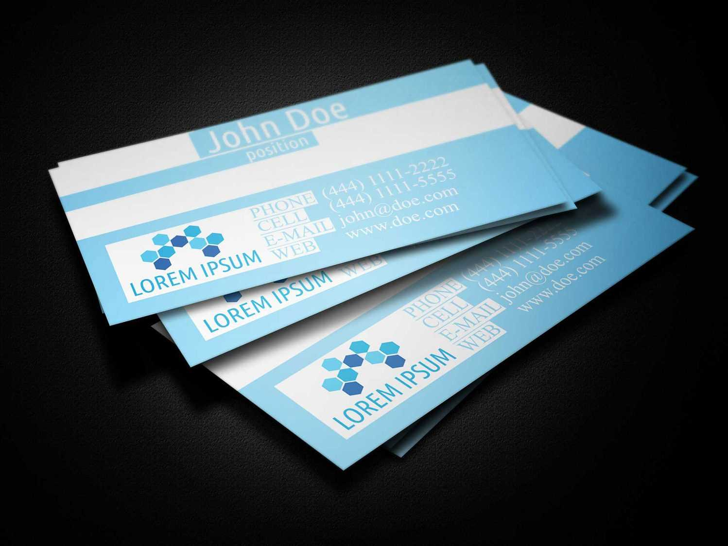 Blue Medical Business Card Template - Business Cards Lab Intended For Medical Business Cards Templates Free
