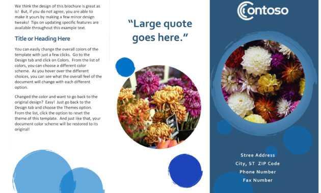 Blue Spheres Brochure throughout Office Word Brochure Template