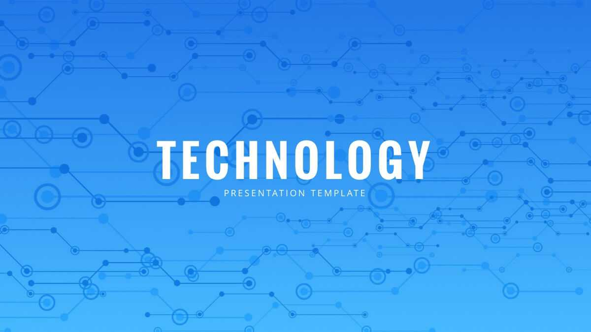 Blue Tech Free Powerpoint Template - Powerpointify With Powerpoint Templates For Technology Presentations
