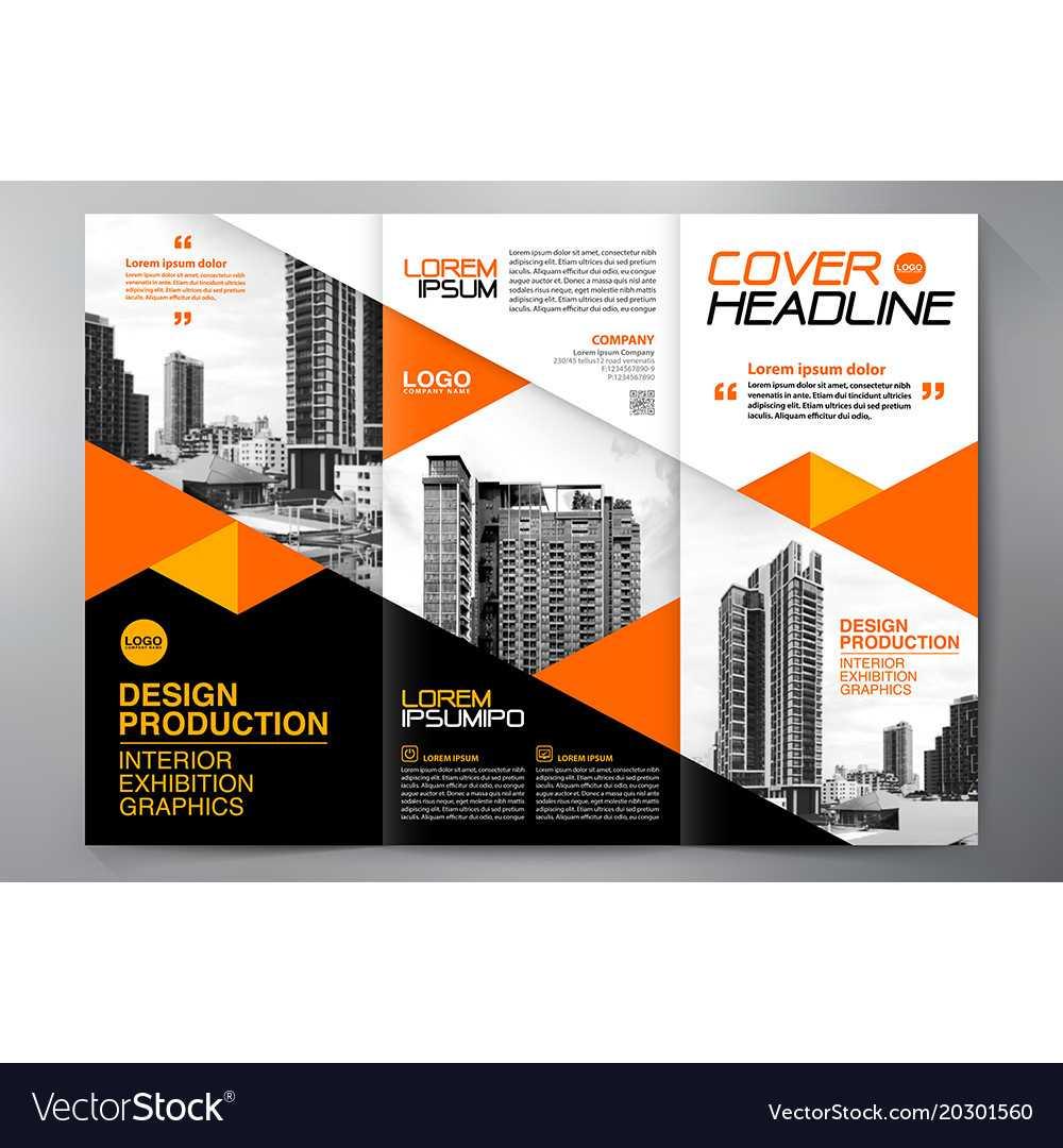 Brochure 3 Fold Flyer Design A4 Template Inside E Brochure Design Templates