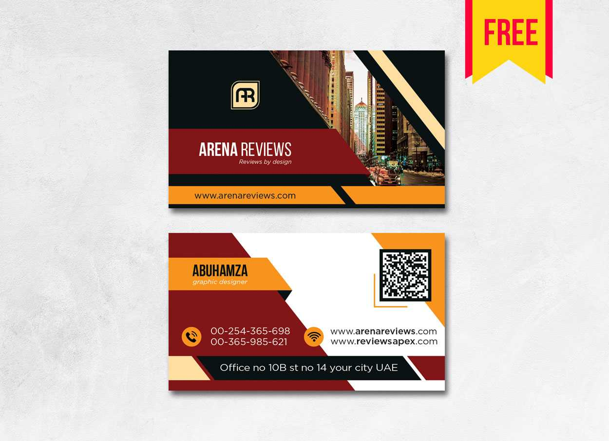 Building Business Card Design Psd – Free Download | Arenareviews Pertaining To Visiting Card Illustrator Templates Download