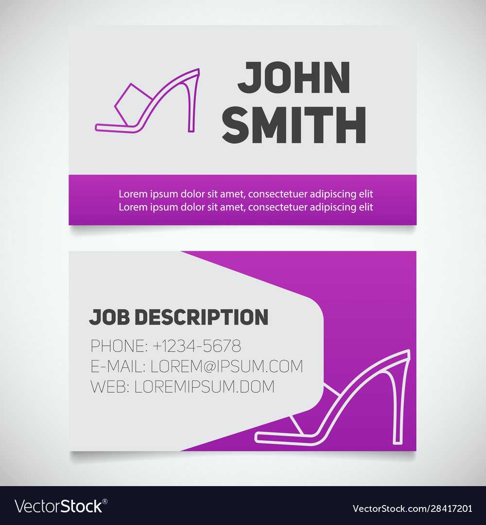 Business Card Print Template With High Heel Shoe Pertaining To High Heel Shoe Template For Card