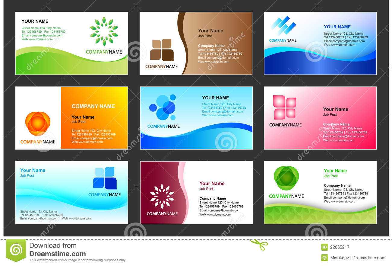 Business Card Template Design Stock Vector - Illustration Of Intended For Template For Calling Card