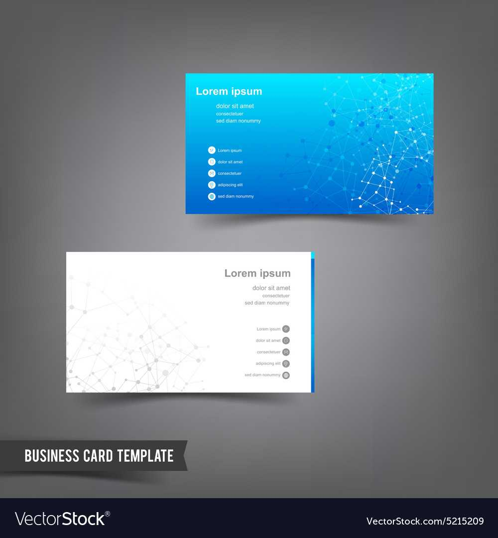 Business Card Template Set 025 Connection Network Regarding Networking Card Template