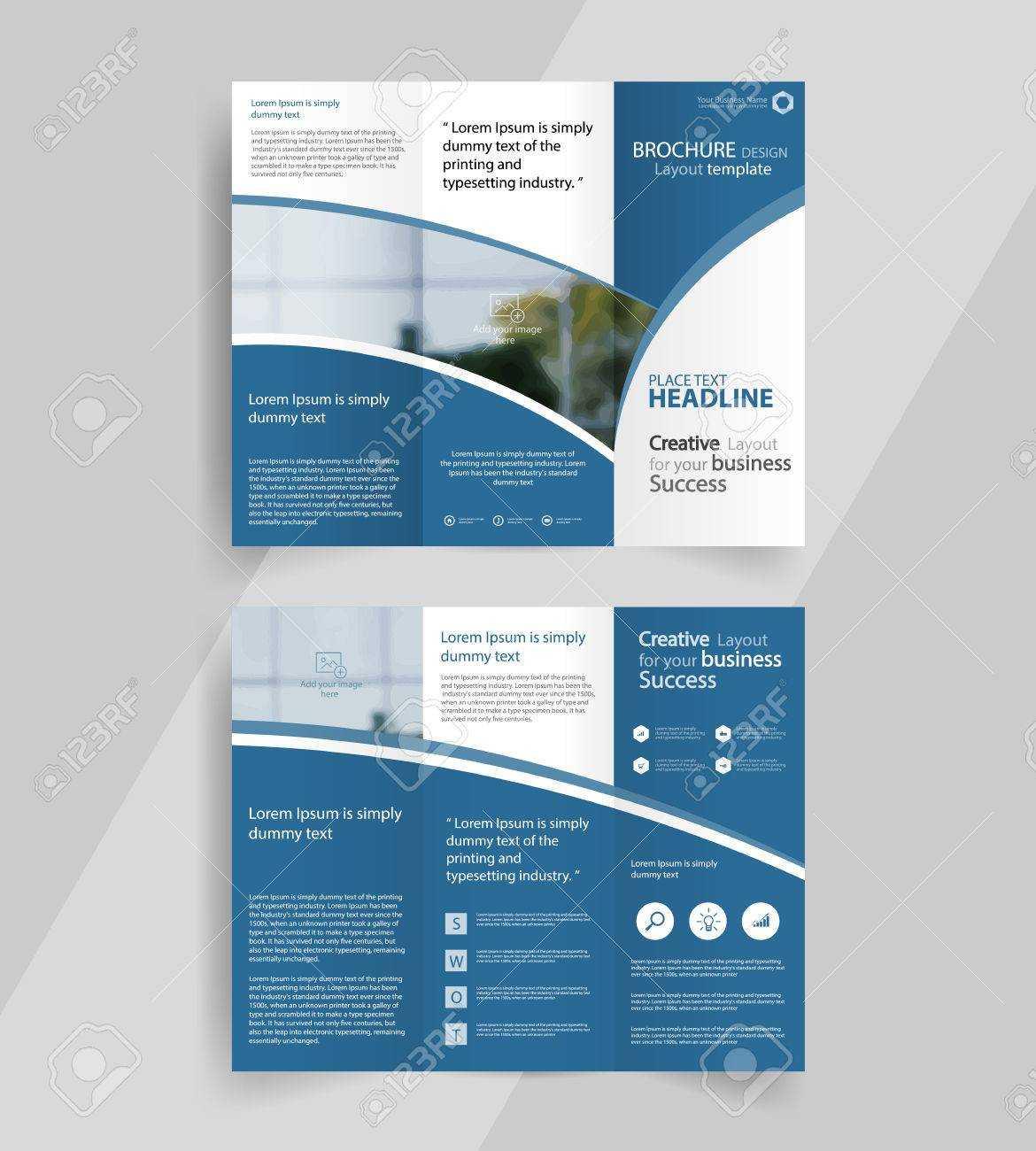 Business Tri Fold Brochure Layout Design ,vector A4 Brochure.. With Tri Fold Brochure Template Illustrator