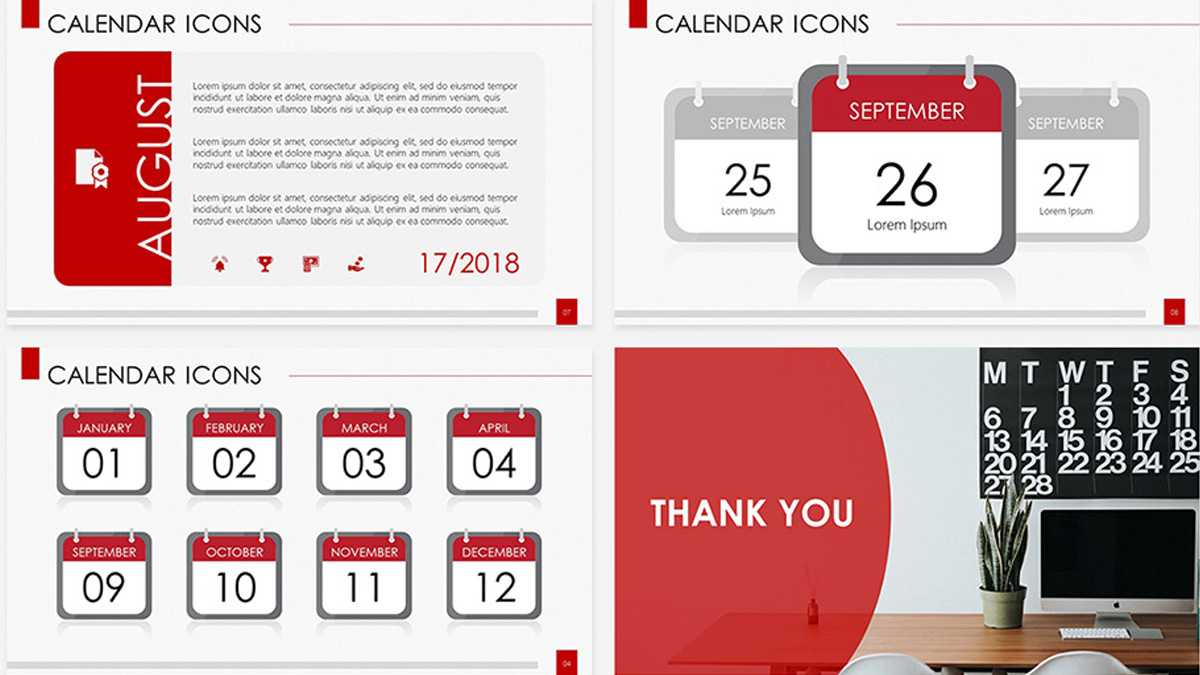 Calendar Icons Free Powerpoint Template Inside Microsoft Powerpoint Calendar Template