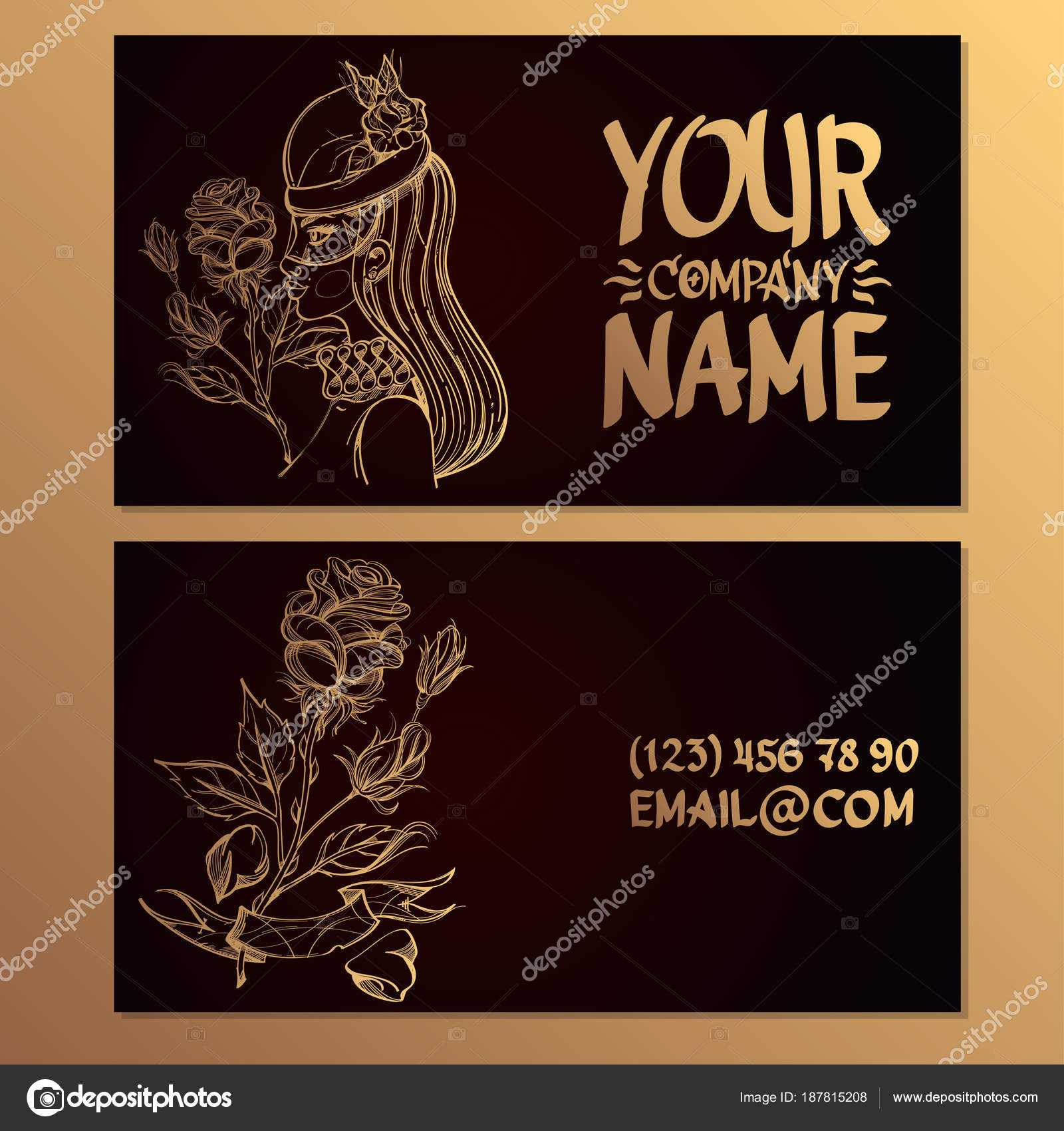 Cards Image Woman Rose Templates Creating Business Cards With Advertising Cards Templates