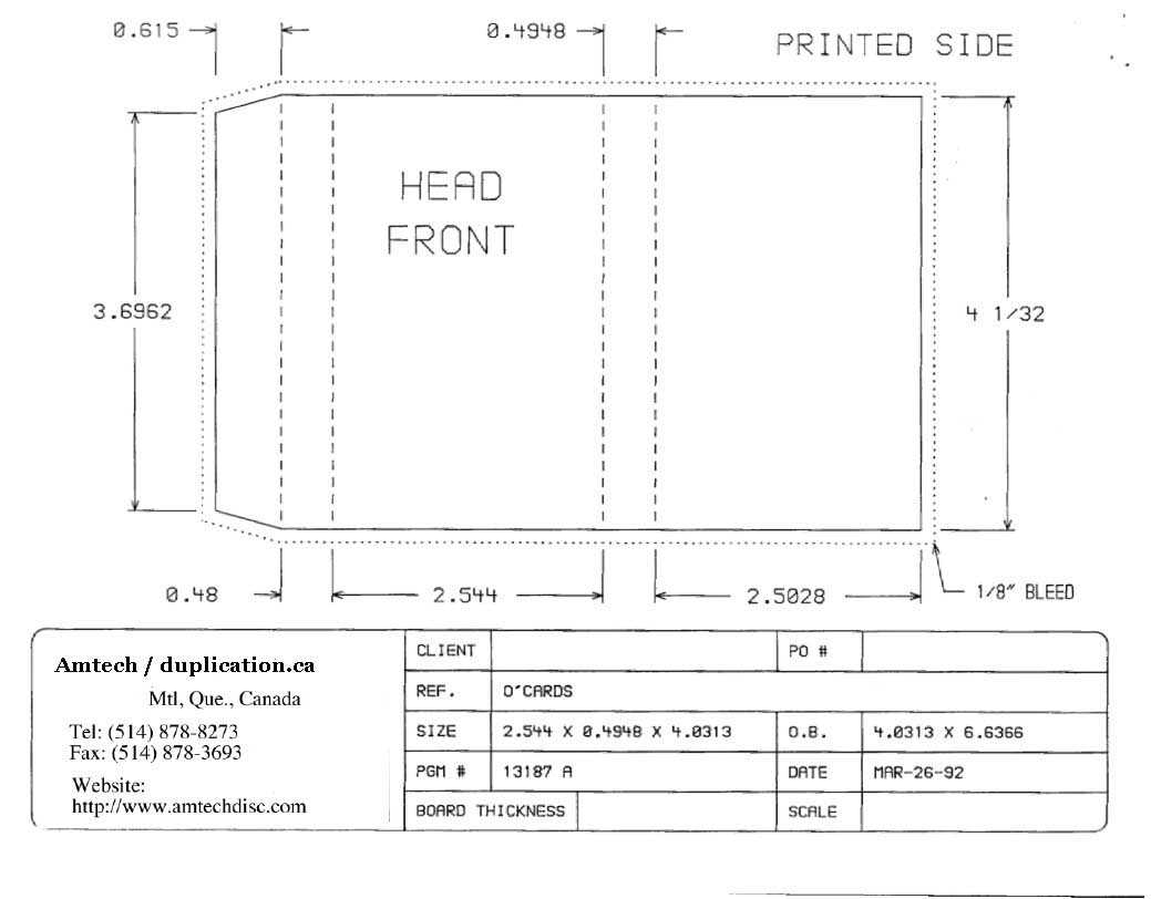 Cassette Insert Print Specs Pertaining To Cassette J Card Template