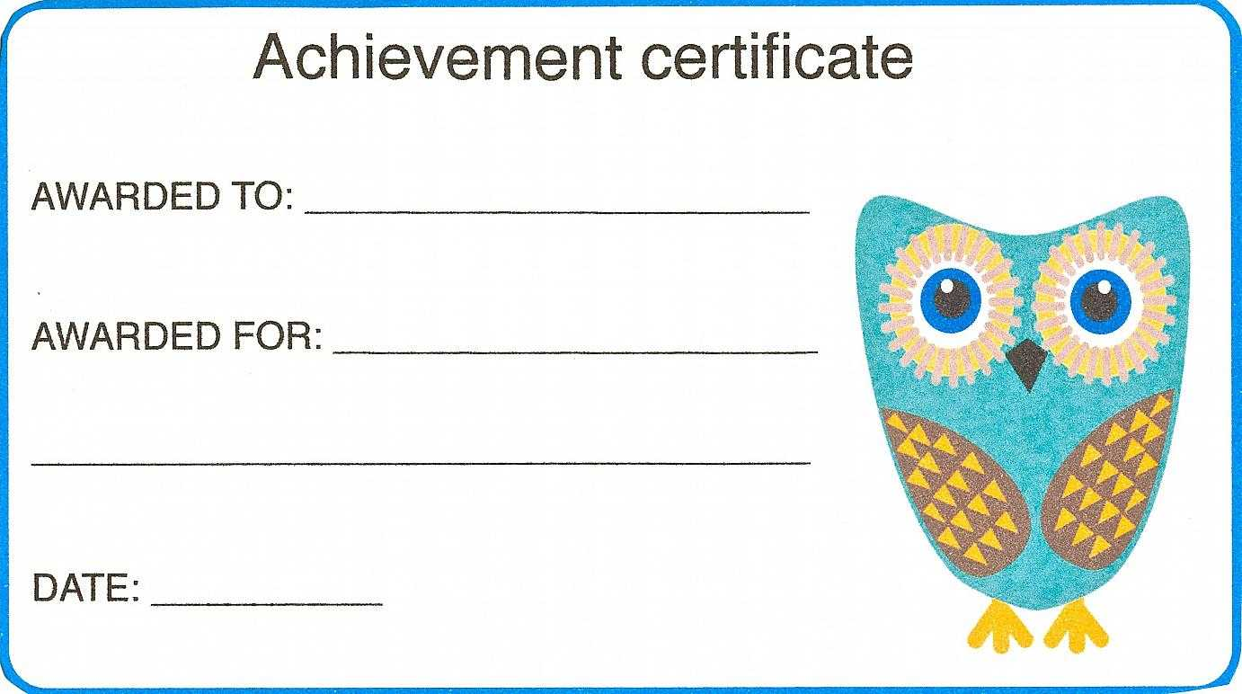Certificate For Kid Template – Certificate Templates For Certificate Of Achievement Template For Kids