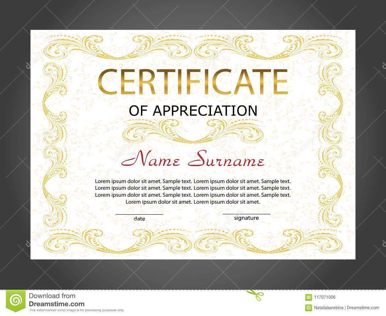 Certificate Of Appreciation, Diploma Template. Reward. Award Pertaining To Winner Certificate Template