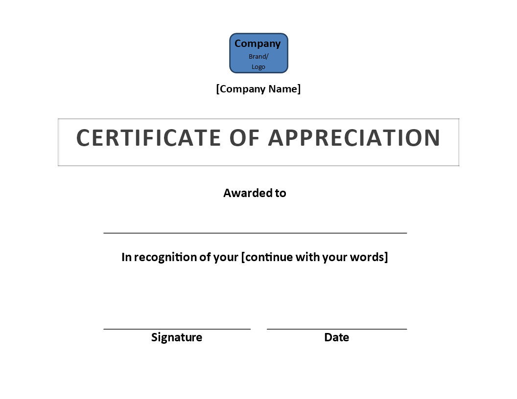 Certificate Of Appreciation | Templates At Allbusinesstemplates With Regard To Certificate Of Appearance Template