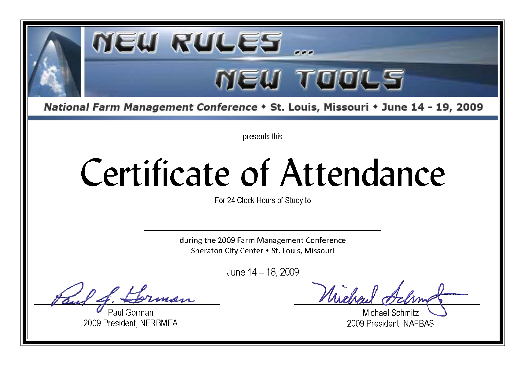 Certificate Of Attendance Conference Template ] - Of Within Certificate Of Attendance Conference Template