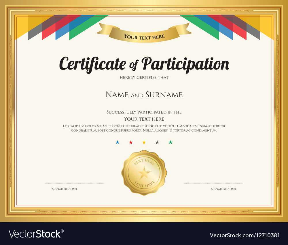 Certificate Of Participation Template With Regard To Templates For Certificates Of Participation