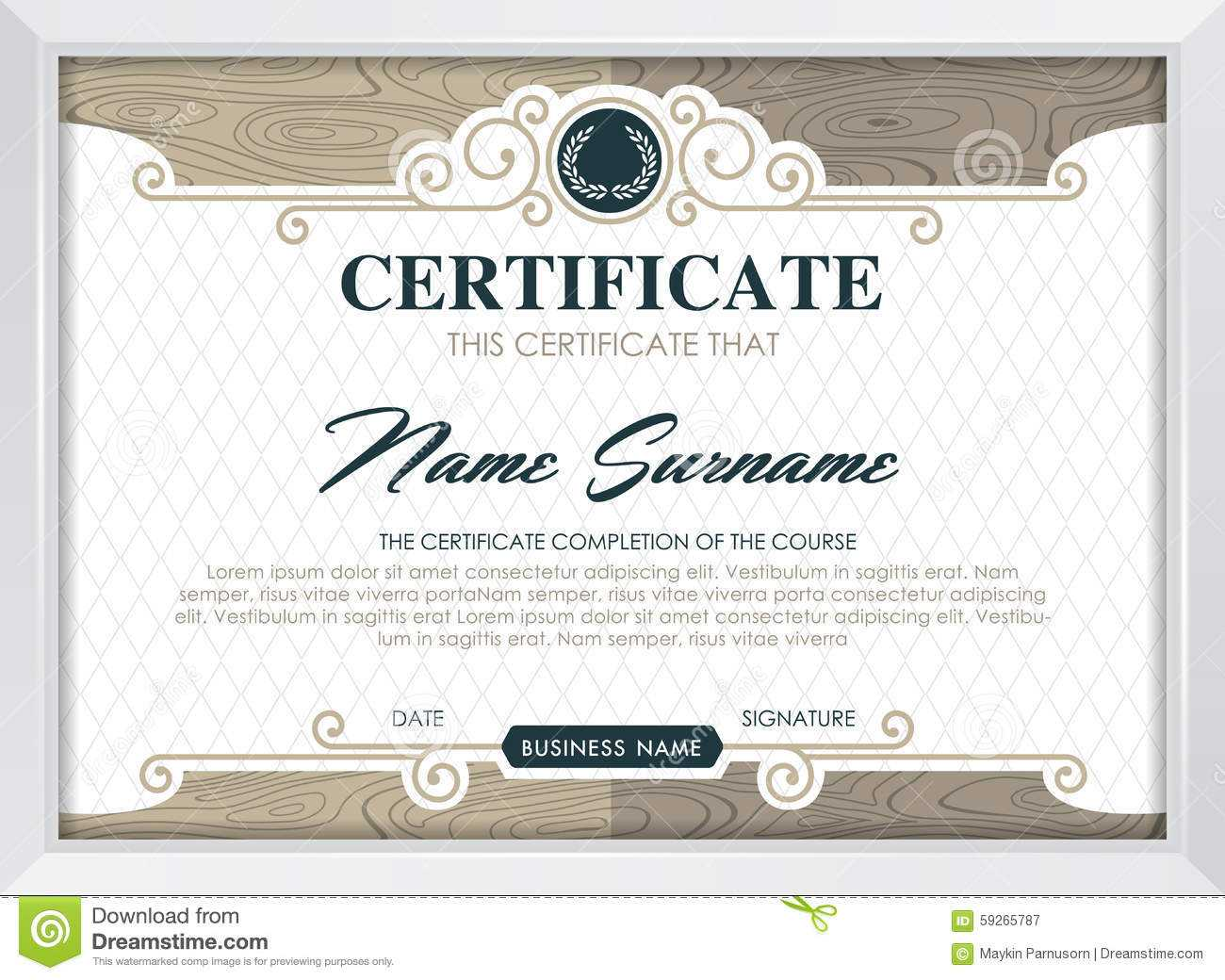 Certificate Stock Vector. Illustration Of Antique, Award Within Qualification Certificate Template