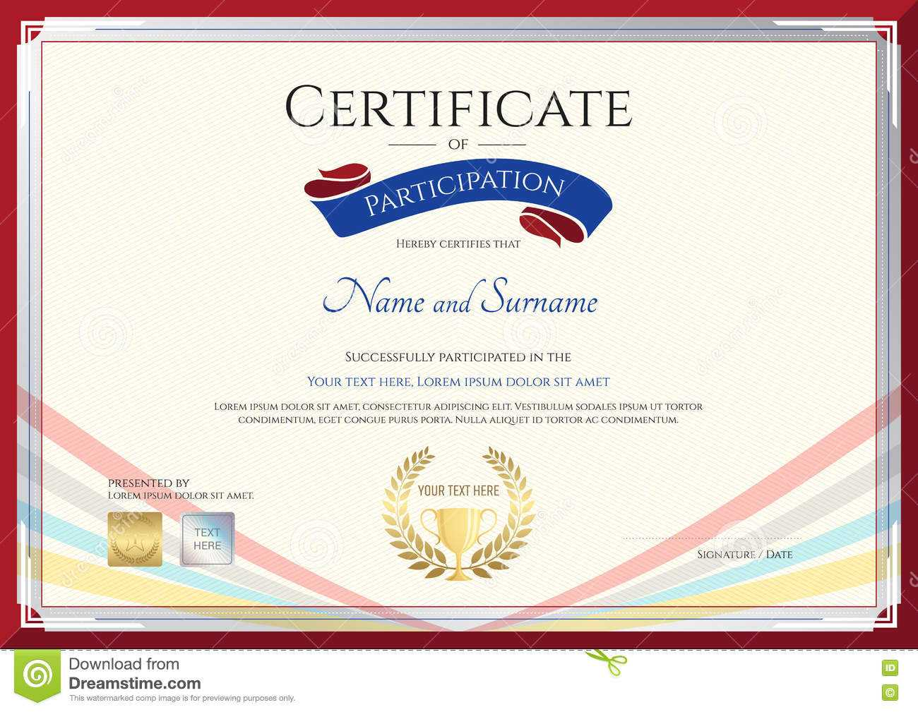 Certificate Template For Achievement, Appreciation Or Inside International Conference Certificate Templates