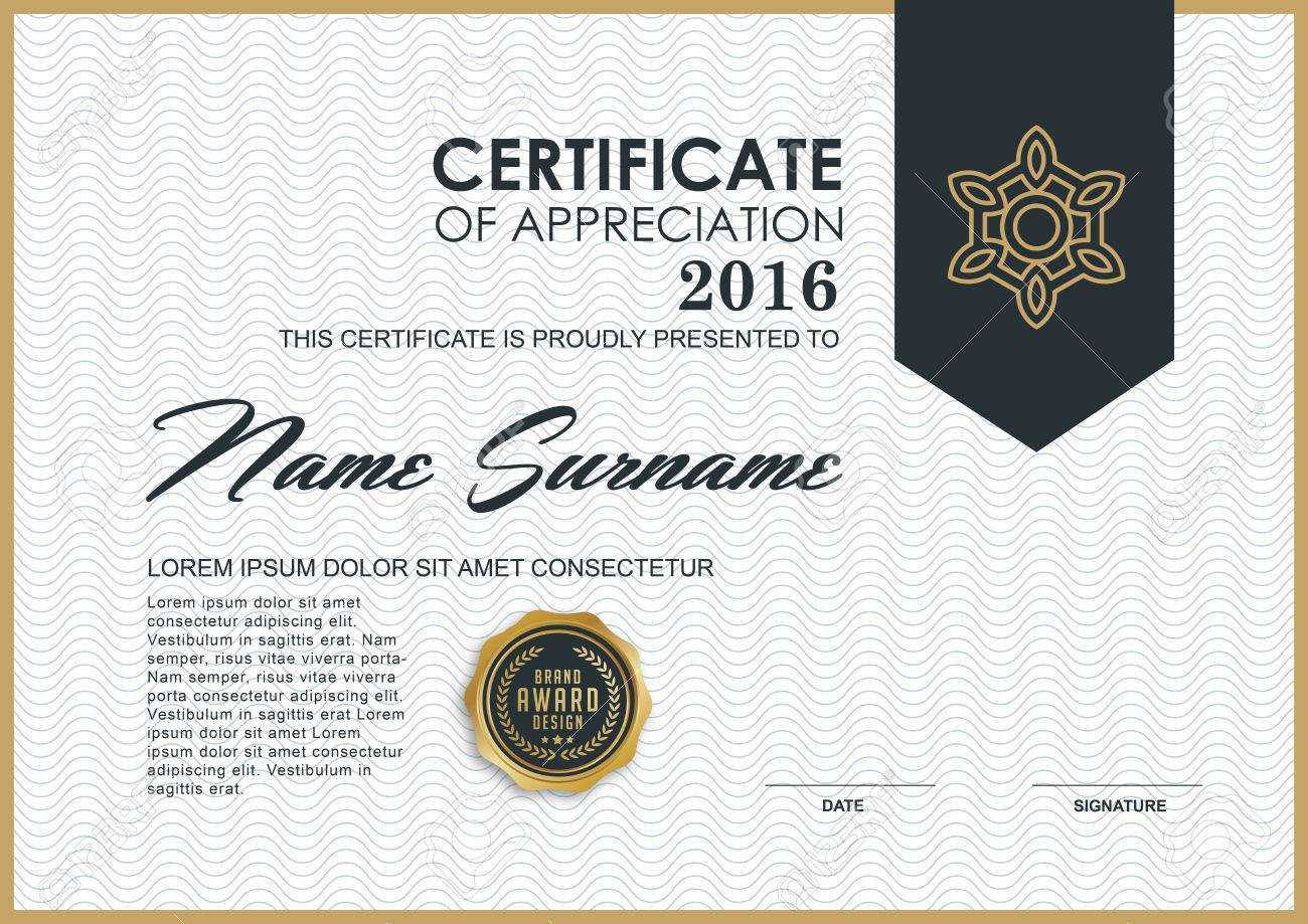 Certificate Template With Luxury And Modern Pattern,, Qualification.. In Qualification Certificate Template