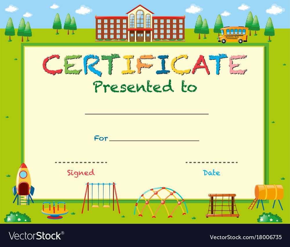 Certificate Template With School In Background For Certificate Templates For School