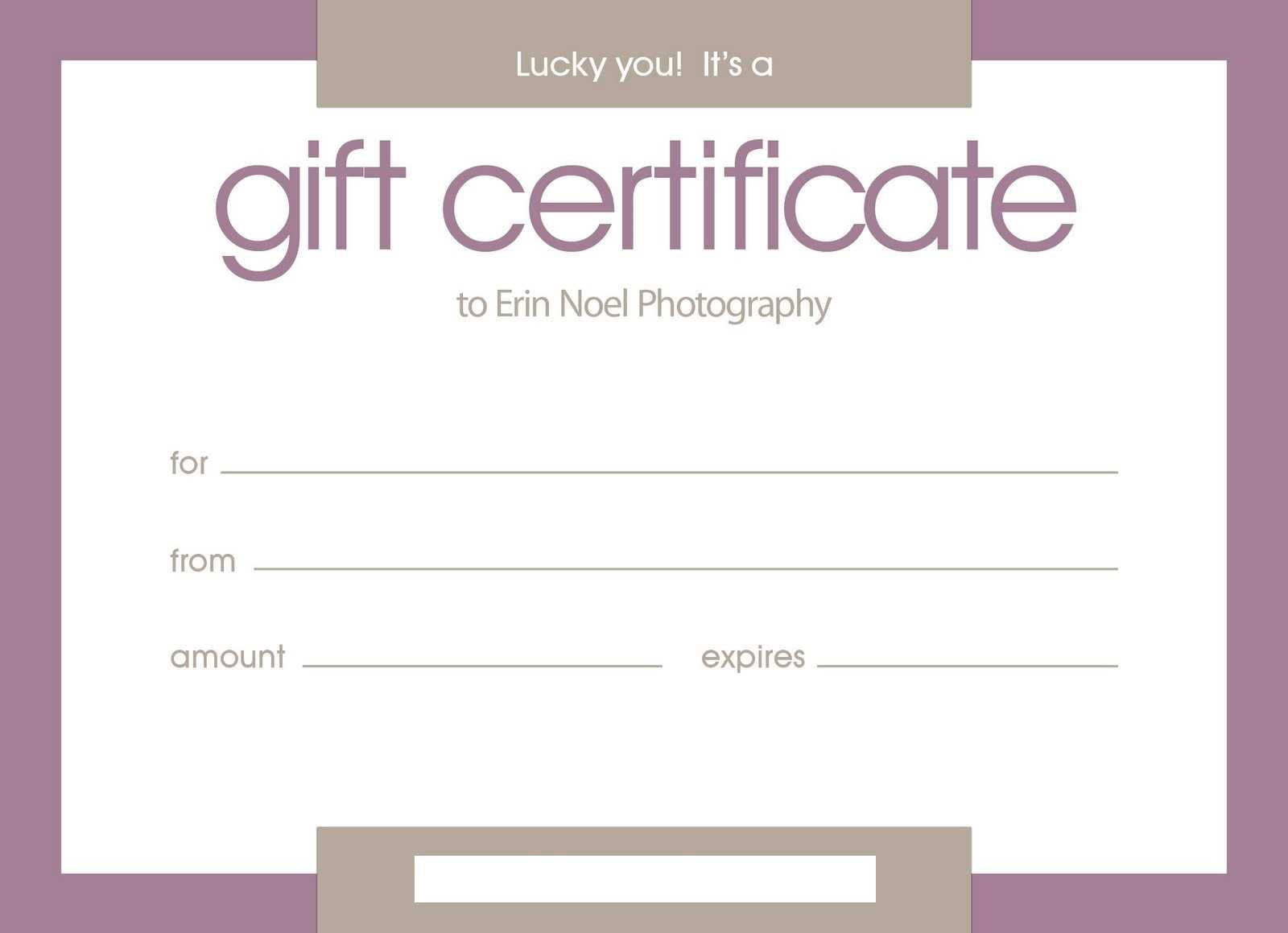 Certificates: Stylish Free Customizable Gift Certificate Intended For Certificate Template For Pages