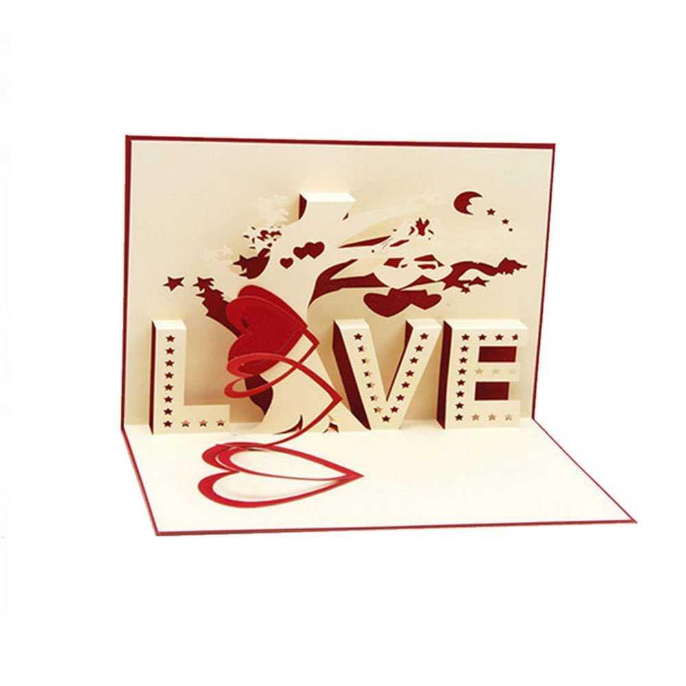 Cheap 3D Heart Pop Up Card, Find 3D Heart Pop Up Card Deals In I Love You Pop Up Card Template