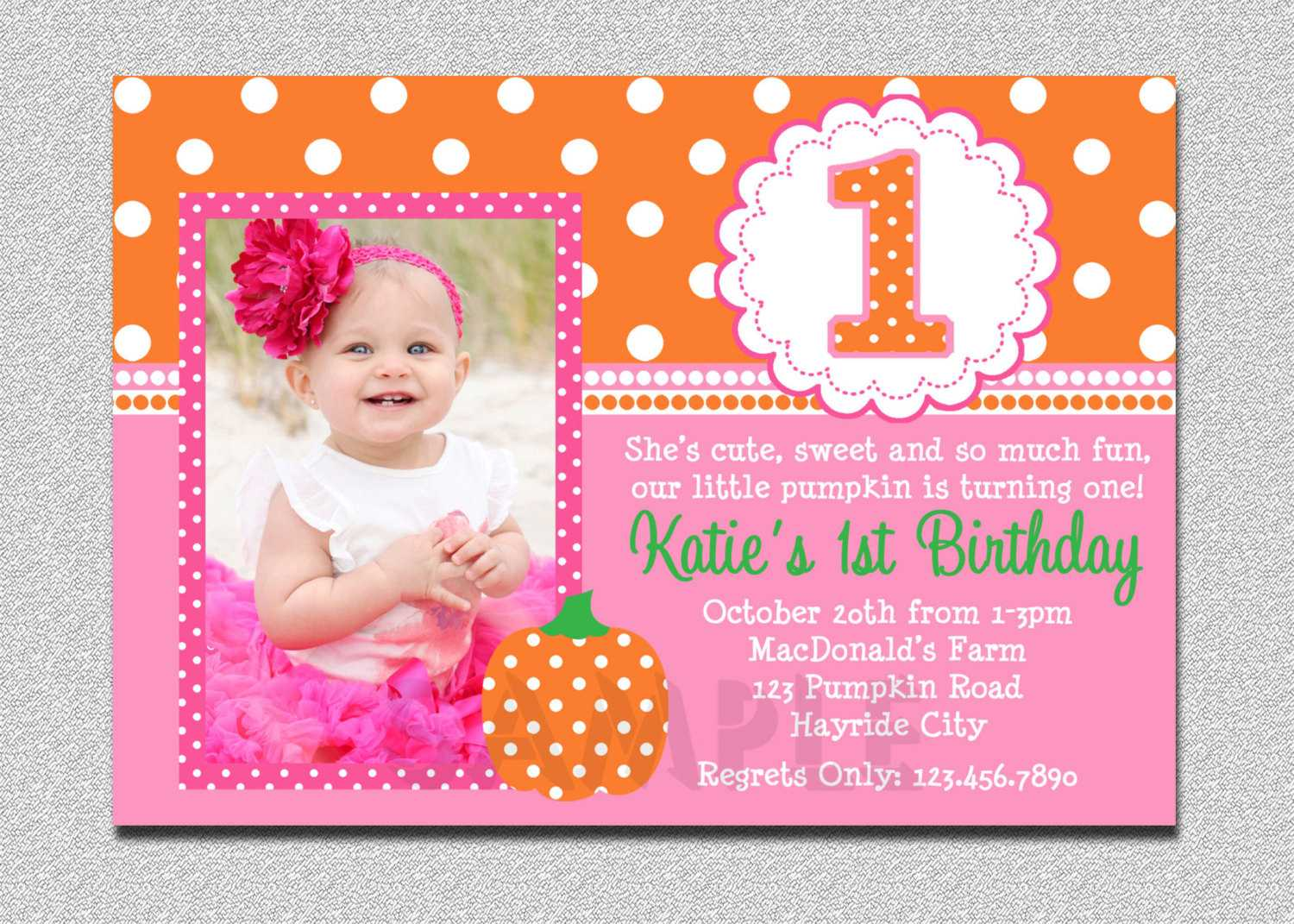 Cheap First Birthday Invitation Template – Bagvania With First Birthday Invitation Card Template