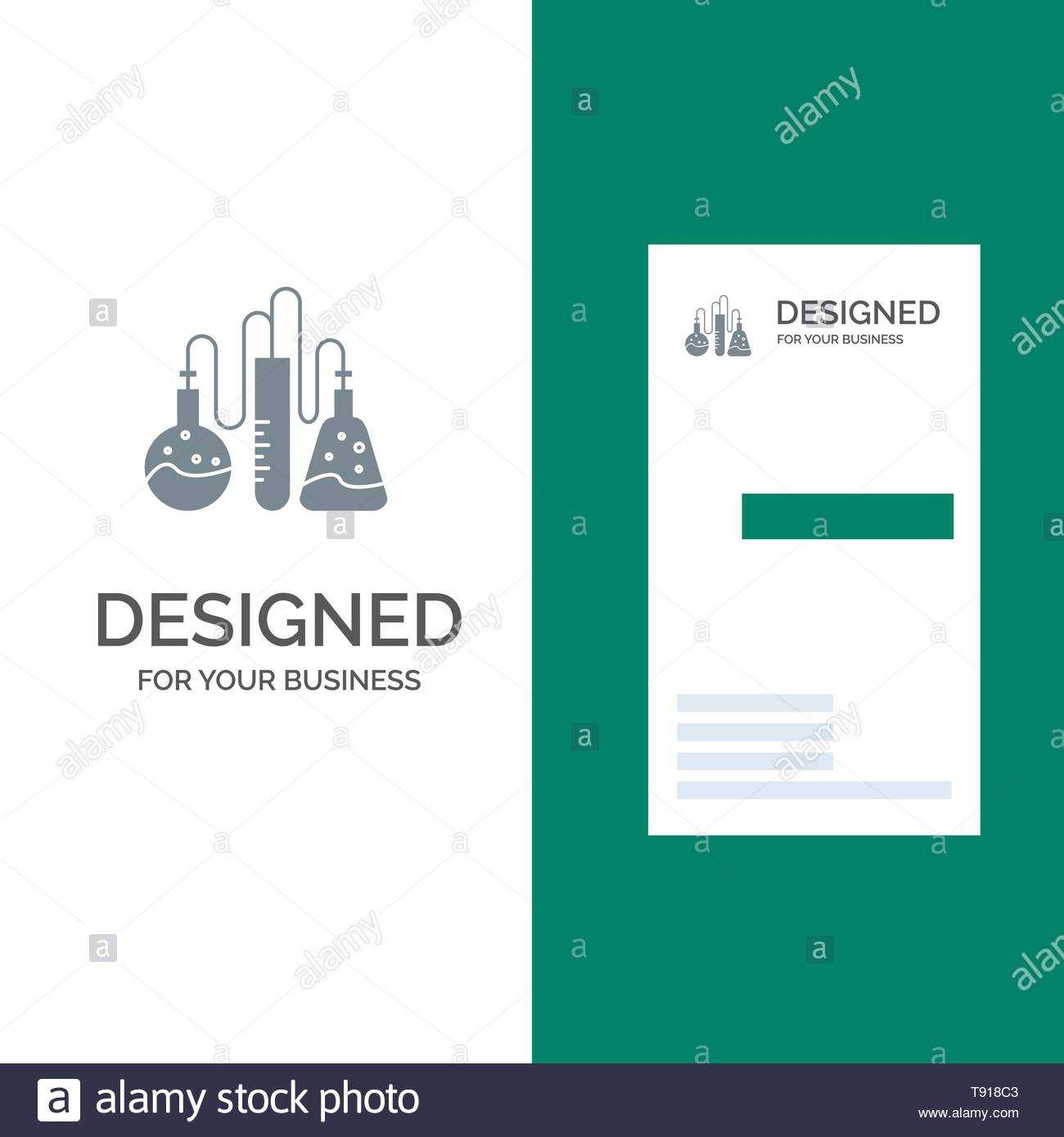 Chemical, Dope, Lab, Science Grey Logo Design And Business With Dope Card Template