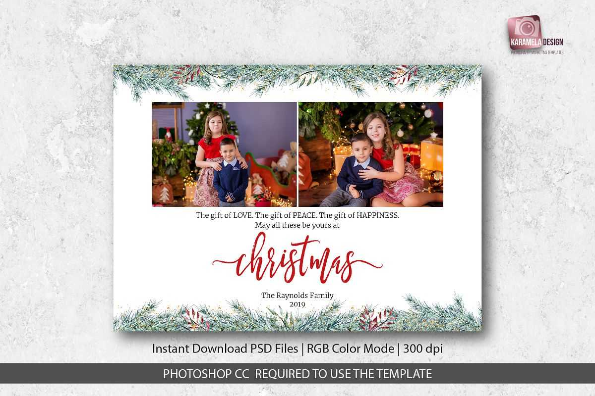 Christmas Card Template For Photographers Regarding Holiday Card Templates For Photographers