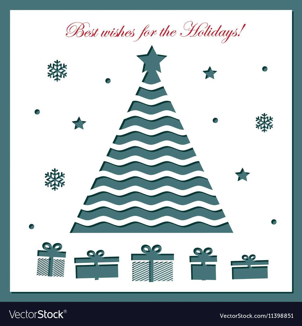 Christmas Card Template With Laser Cutting With Adobe Illustrator Christmas Card Template